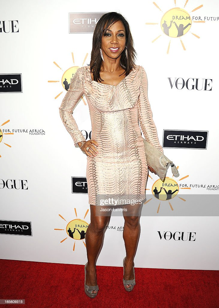 Actress Holly Robinson Peete attends the Dream For Future Africa Foundation gala at Spago on October 24, 2013 in Beverly Hills, California.