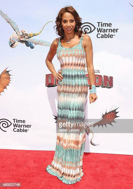 Actress Holly Robinson Peete attends the premiere of 'How To Train Your Dragon 2' at Regency Village Theatre on June 8 2014 in Westwood California