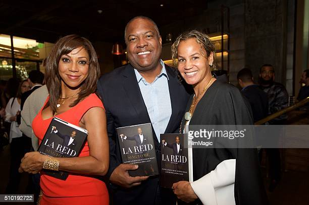 Actress Holly Robinson Peete Rodney Peete and Erica Reid attend the LA Reid 'Sing To Me' PreGrammy Brunch at Hinoki The Bird on February 13 2016 in...