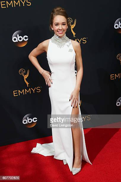 Actress Holly Taylor arrives at the 68th Annual Primetime Emmy Awards at the Microsoft Theater on September 18 2016 in Los Angeles California