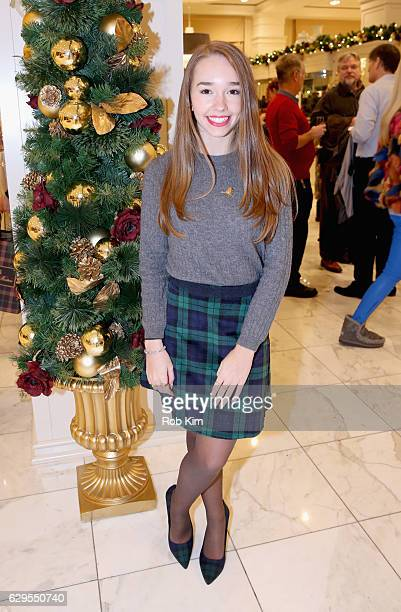Actress Holly Taylor attends an evening hosted by Brooks Brothers to celebrate the holidays with St Jude Children's Research Hospital at Brooks...