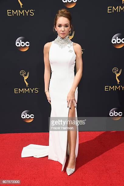 Actress Holly Taylor attends the 68th Annual Primetime Emmy Awards at Microsoft Theater on September 18 2016 in Los Angeles California