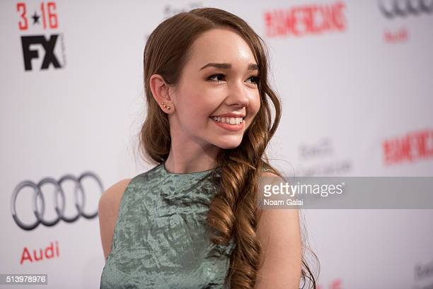 Actress Holly Taylor attends 'The Americans' season 4 premiere on March 5 2016 in New York City