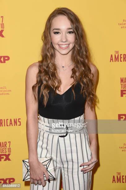 Actress Holly Taylor attends 'The Americans' season 5 premiere at DGA Theater on February 25 2017 in New York City
