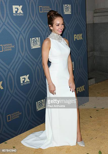 Actress Holly Taylor attends the FOX broadcasting company FX National Geographic and Twentieth Century Fox Television's 68th Primetime Emmy Awards...