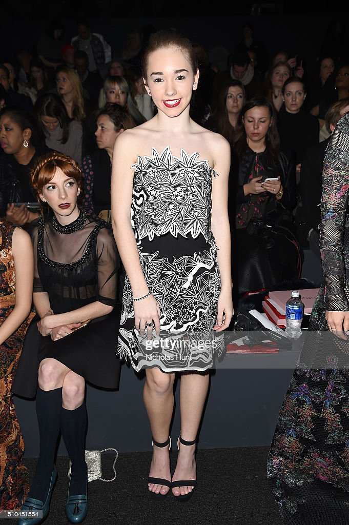 Actress <a gi-track='captionPersonalityLinkClicked' href=/galleries/search?phrase=Holly+Taylor&family=editorial&specificpeople=8137665 ng-click='$event.stopPropagation()'>Holly Taylor</a> attends the Vivienne Tam Fall 2016 fashion show during New York Fashion Week: The Shows at The Arc, Skylight at Moynihan Station on February 15, 2016 in New York City.