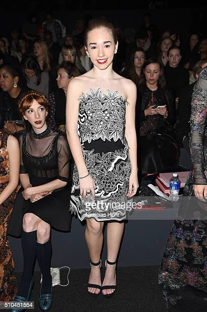 Actress Holly Taylor attends the Vivienne Tam Fall 2016 fashion show during New York Fashion Week The Shows at The Arc Skylight at Moynihan Station...