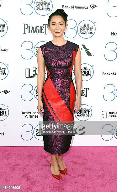Actress Hong Chau attends the 2015 Film Independent Spirit Awards at Santa Monica Beach on February 21 2015 in Santa Monica California