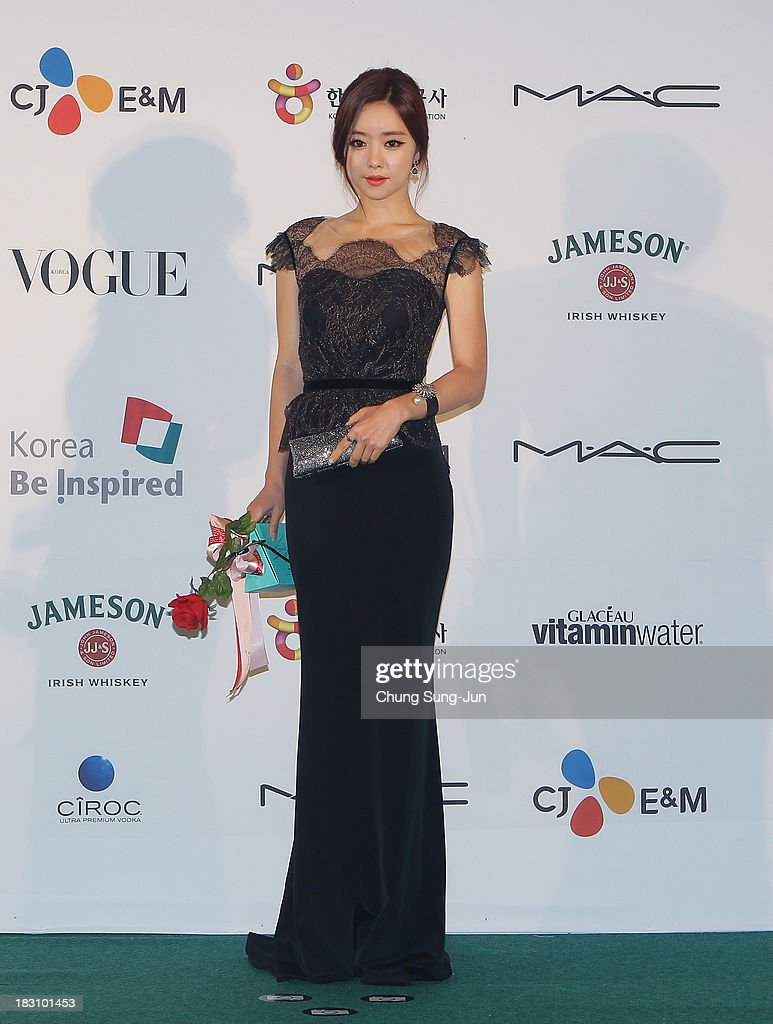 Actress Hong Soo-A arrives for the APAN star road during the 18th Busan International Film Festival on October 4, 2013 in Busan, South Korea.