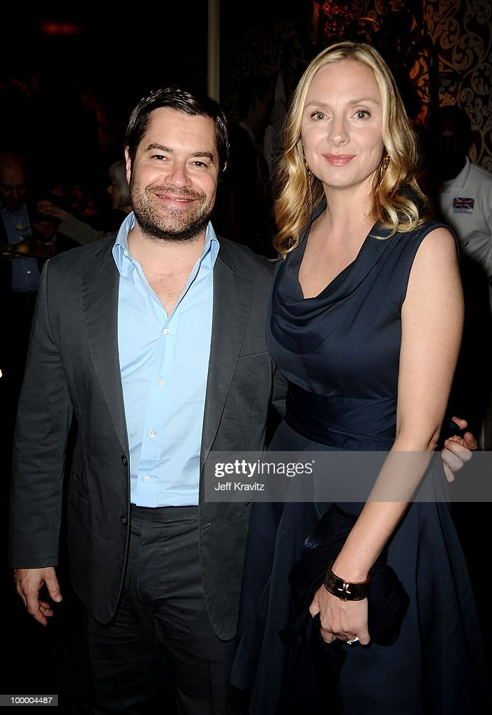 Actress Hope Davis (R) attends the HBO premiere of 'The Special Relationship' after party held at Directors Guild Of America on May 19, 2010 in Los Angeles, California..