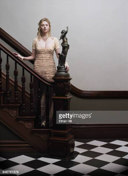 Actress Hope Davis is photographed for Los Angeles Magazine in June 2002 in New York City