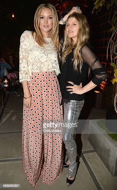 Actress Hudson and singer Fergie Duhamel attend Chrome Hearts Kate Hudson Host Garden Party To Celebrate Collaboration at Chrome Hearts on May 8 2014...