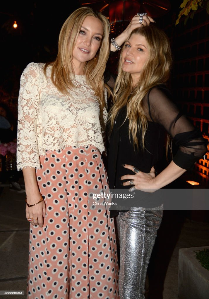 Actress Hudson (L) and singer Fergie Duhamel attend Chrome Hearts & Kate Hudson Host Garden Party To Celebrate Collaboration at Chrome Hearts on May 8, 2014 in Los Angeles, California.