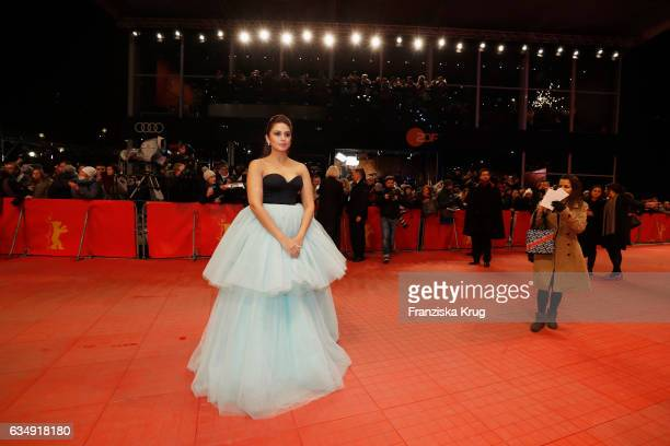 Actress Huma Qureshi arrives at the 'Viceroy's House' premiere during the 67th Berlinale International Film Festival Berlin at Berlinale Palace on...