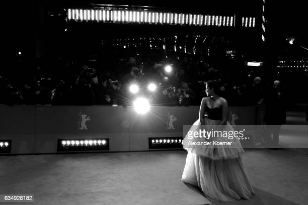 Actress Huma Qureshi attends the 'Viceroy's House' premiere during the 67th Berlinale International Film Festival Berlin at Berlinale Palace on...