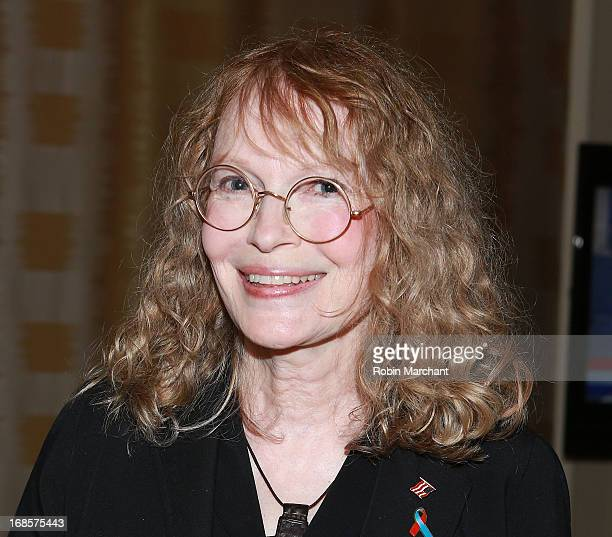 Actress/ Humanitarian Mia Farrow attends Ellis Island Medals Of Honor PreGala Reception at Ritz Carlton Hotel on May 11 2013 in New York City