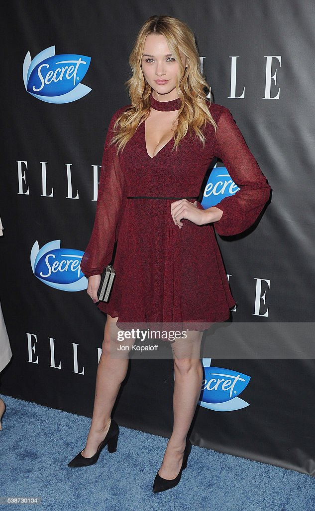 Actress <a gi-track='captionPersonalityLinkClicked' href=/galleries/search?phrase=Hunter+King&family=editorial&specificpeople=9938218 ng-click='$event.stopPropagation()'>Hunter King</a> arrives at ELLE Hosts Women In Comedy Event With July Cover Stars Leslie Jones, Melissa McCarthy, Kate McKinnon And Kristen Wiig at HYDE Sunset: Kitchen + Cocktails on June 7, 2016 in West Hollywood, California.