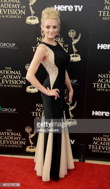 Actress Hunter King arrives at the 41st Annual Daytime Emmy Awards at The Beverly Hilton Hotel on June 22 2014 in Beverly Hills California