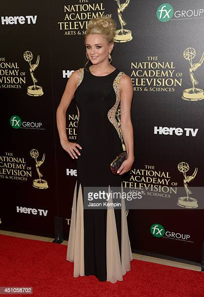 Actress Hunter King attends The 41st Annual Daytime Emmy Awards at The Beverly Hilton Hotel on June 22 2014 in Beverly Hills California
