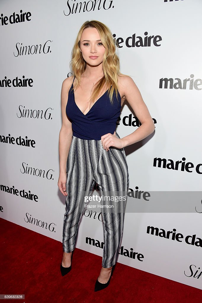 Actress <a gi-track='captionPersonalityLinkClicked' href=/galleries/search?phrase=Hunter+King&family=editorial&specificpeople=9938218 ng-click='$event.stopPropagation()'>Hunter King</a> attends the 'Fresh Faces' party, hosted by Marie Claire, celebrating the May issue cover stars on April 11, 2016 in Los Angeles, California.