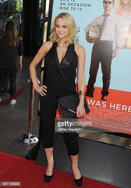 Actress Hunter King attends the 'Wish I Was Here' Los Angeles premiere on June 23 2014 at the DGA Theater in Los Angeles California