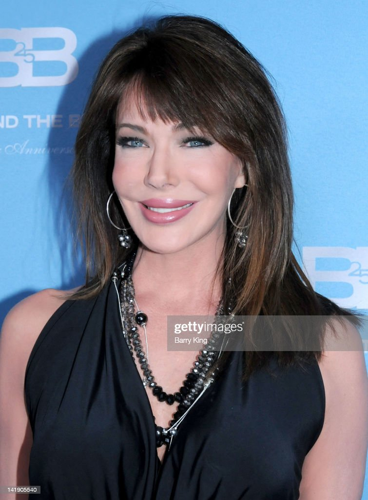 Actress <a gi-track='captionPersonalityLinkClicked' href=/galleries/search?phrase=Hunter+Tylo&family=editorial&specificpeople=663945 ng-click='$event.stopPropagation()'>Hunter Tylo</a> attends 'The Bold And The Beautiful' 25th silver anniversary party on March 10, 2012 in Los Angeles, California.