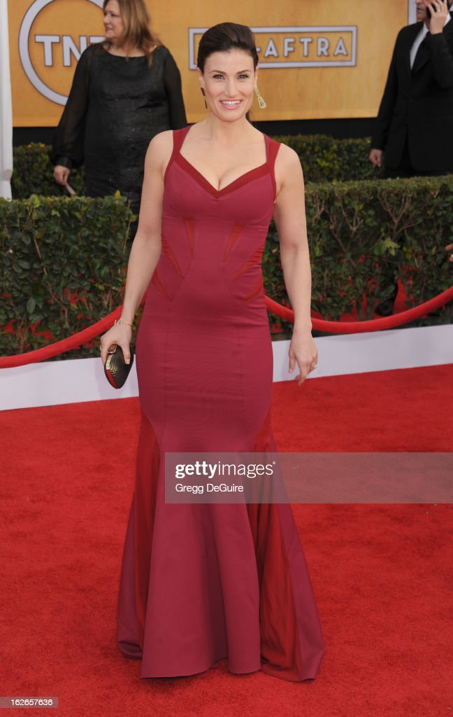 Actress Idina Menzel arrives at the 19th Annual Screen Actors Guild Awards at The Shrine Auditorium on January 27, 2013 in Los Angeles, California.