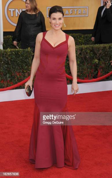 Actress Idina Menzel arrives at the 19th Annual Screen Actors Guild Awards at The Shrine Auditorium on January 27 2013 in Los Angeles California