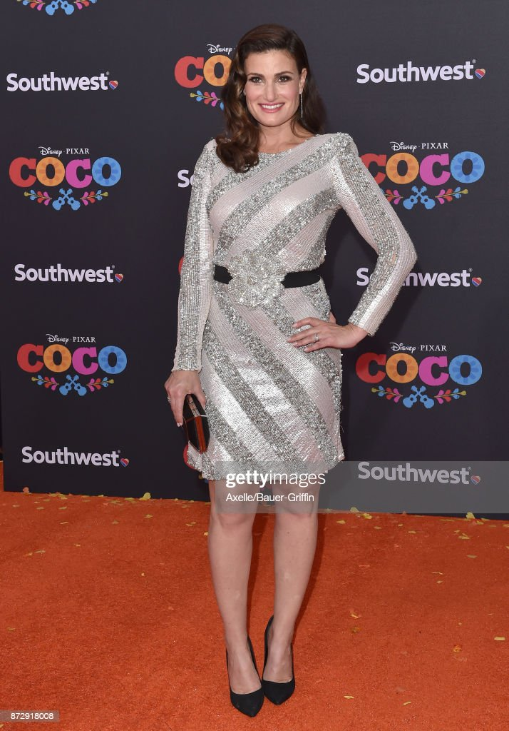 Actress Idina Menzel arrives at the premiere of Disney Pixar's 'Coco' at El Capitan Theatre on November 8, 2017 in Los Angeles, California.
