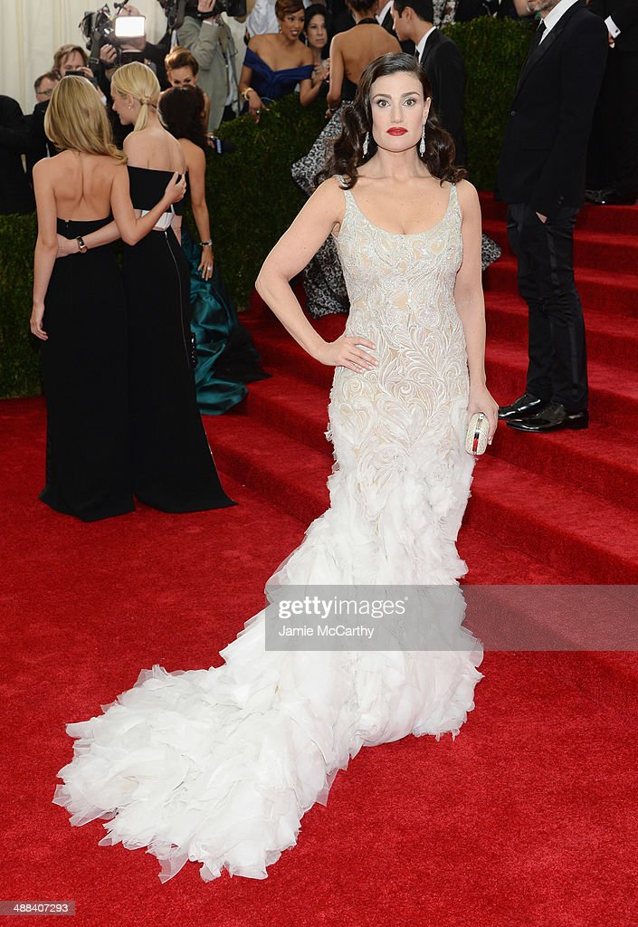 Actress Idina Menzel attends the 'Charles James: Beyond Fashion' Costume Institute Gala at the Metropolitan Museum of Art on May 5, 2014 in New York City.