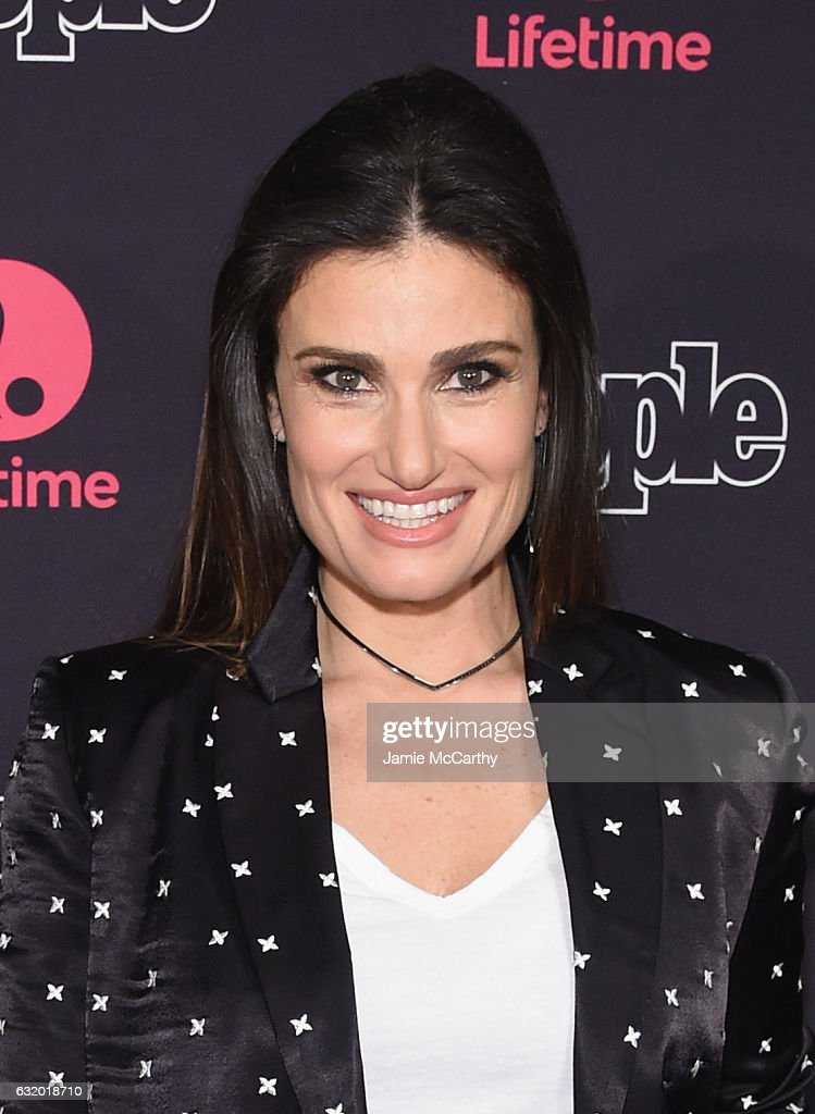 Actress Idina Menzel attends the Lifetime Beaches NY Screening at the AMC Empire 25 on January 18, 2017 in New York City.