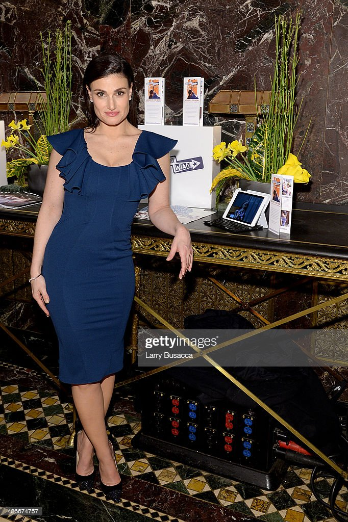 Actress <a gi-track='captionPersonalityLinkClicked' href=/galleries/search?phrase=Idina+Menzel&family=editorial&specificpeople=213583 ng-click='$event.stopPropagation()'>Idina Menzel</a> attends Variety Power Of Women: New York presented by FYI at Cipriani 42nd Street on April 25, 2014 in New York City.