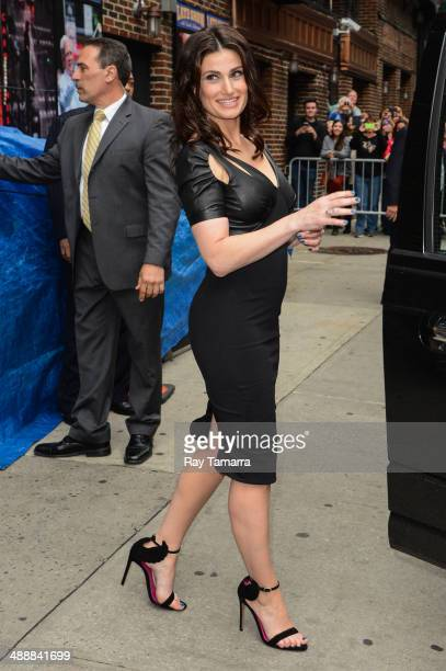 Actress Idina Menzel leaves the 'Late Show With David Letterman' taping at the Ed Sullivan Theater on May 8 2014 in New York City