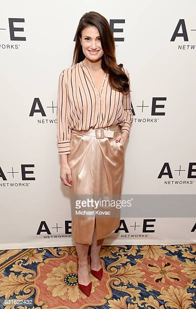 Actress Idina Menzel of 'Beaches' attends the Lifetime portion of the 2017 Winter Television Critics Association Press Tour at Langham Hotel on...