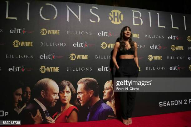 Actress IIfenesh Hadera attends Showtime's 'Billions' Season 2 premiere held at Cipriani 25 Broadway on February 13 2017 in New York City