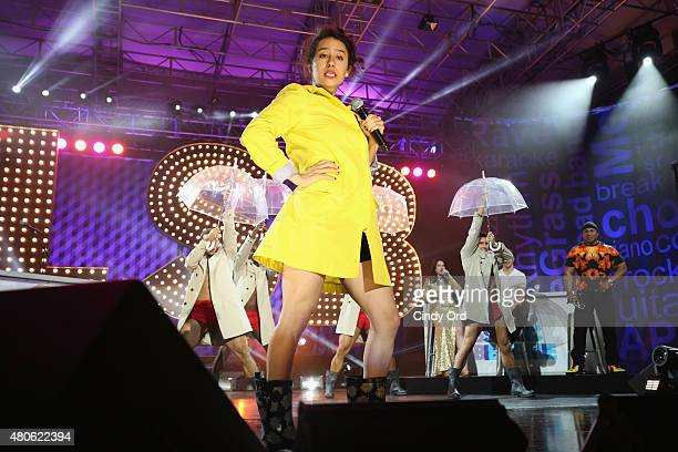 Actress Ilana Glazer performs onstage during the Lip Sync Battle LIVE At SummerStage In New York on July 13 2015 in New York City