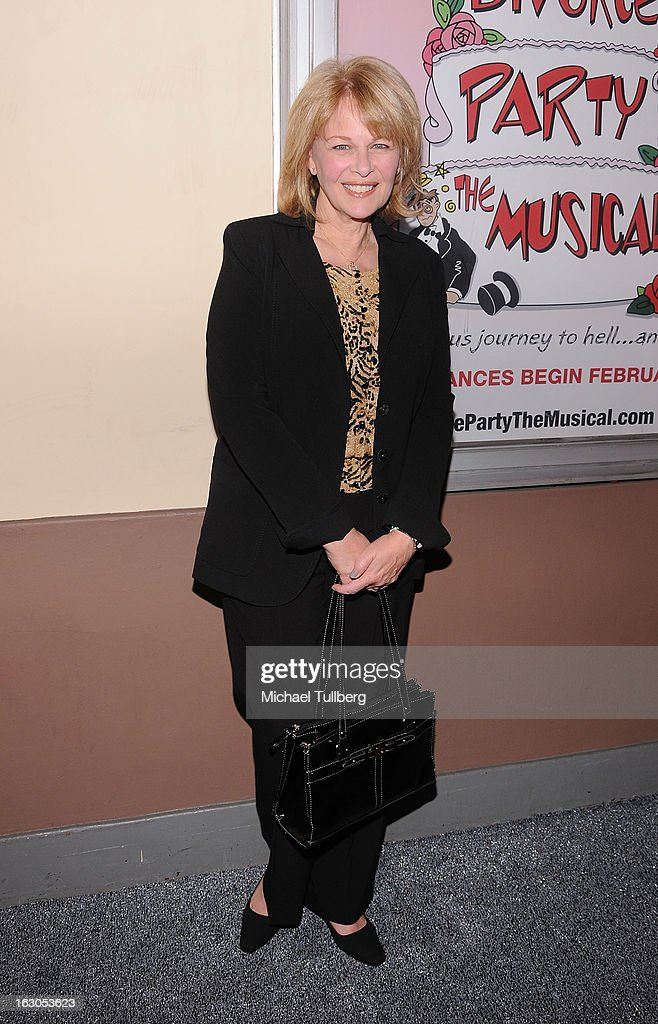 Actress Ilene Graff attends the opening night performance of 'Divorce Party - The Musical' at El Portal Theatre on March 3, 2013 in North Hollywood, California.