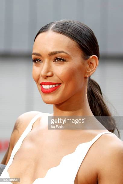 US actress Ilfenesh Hadera attends the 'Baywatch' Photo Call in Berlin on May 30 2017 in Berlin Germany