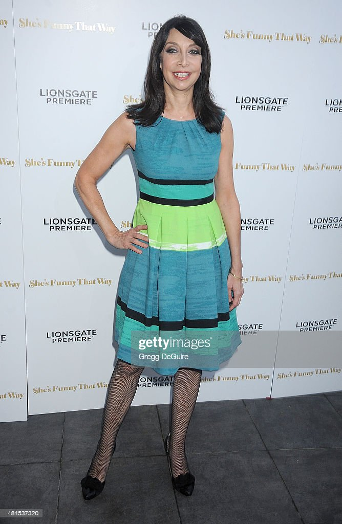 Actress Illeana Douglas arrives at the premiere of Lionsgate's 'She's Funny That Way' at Harmony Gold on August 19 2015 in Los Angeles California
