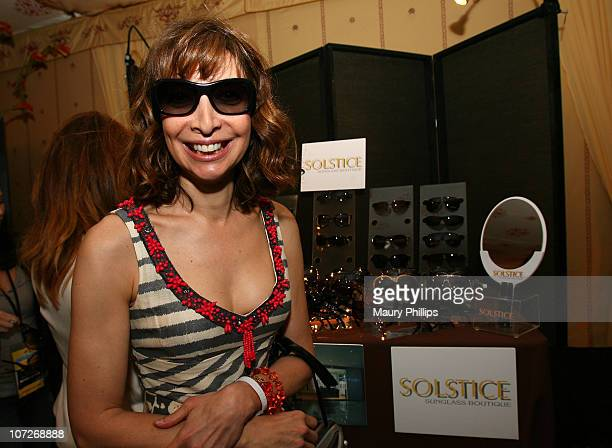 Actress Illeana Douglas at the On3 Productions Lounge at Film Independent's 2008 Independent Spirit Awards at the Santa Monica Pier on February 23...