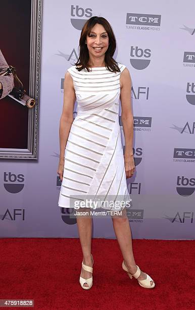 Actress Illeana Douglas attends the 2015 AFI Life Achievement Award Gala Tribute Honoring Steve Martin at the Dolby Theatre on June 4 2015 in...