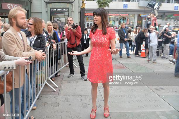 Actress Illeana Douglas attends the Jerry Lewis Hand and Footprint Ceremony at TCL Chinese Theatre during the 2014 TCM Classic Film Festival on April...