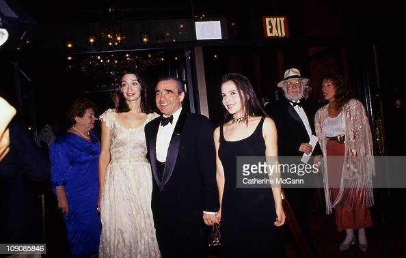 Actress Illeana Douglas director Martin Scorsese and Scorsese's daughter Domenica pose for a photo in September 1993 at the premiere of the film 'The...
