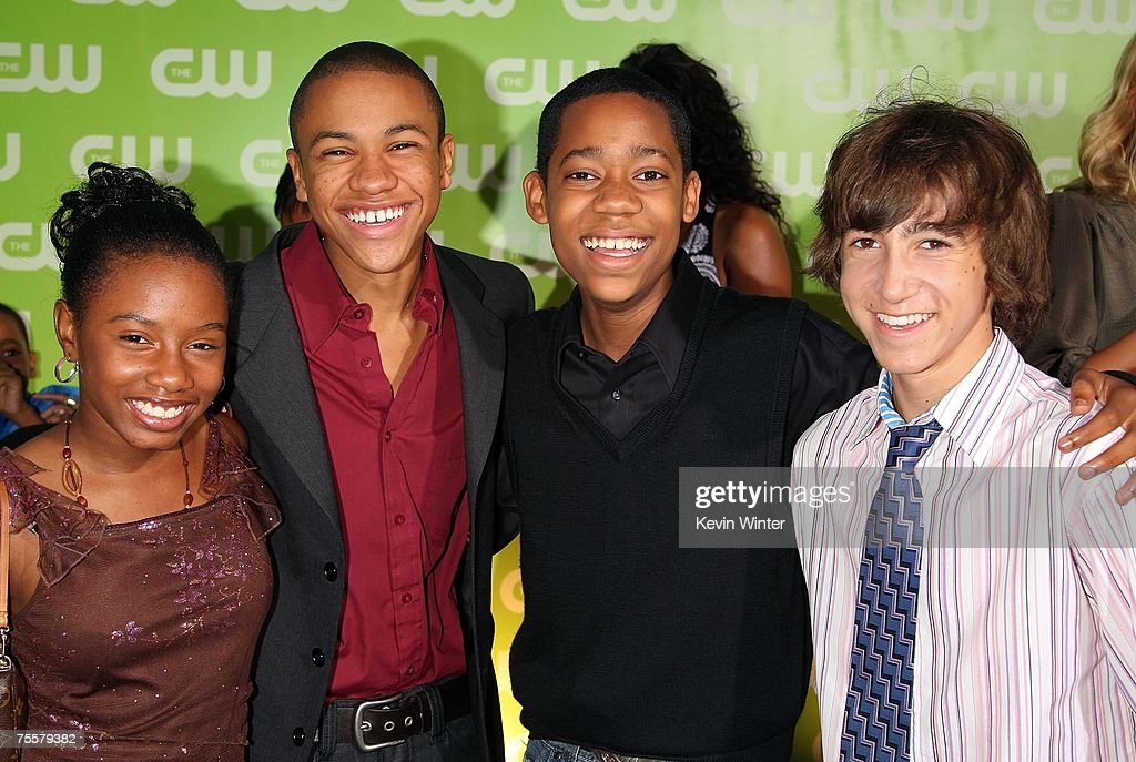 Actress Imani Hakim, actor Tequan Richmond, Tyler James Williams, and actor Vincent Martella arrive to the CW Television Critics Association Press Tour party at the Fountain Plaza at the Pacific Design Center on July 20, 2007 in West Hollywood, California.