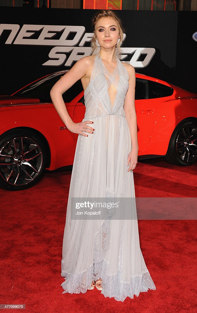 Actress <a gi-track='captionPersonalityLinkClicked' href=/galleries/search?phrase=Imogen+Poots&family=editorial&specificpeople=4265532 ng-click='$event.stopPropagation()'>Imogen Poots</a> arrives at the Los Angeles Premiere 'Need For Speed' at TCL Chinese Theatre on March 6, 2014 in Hollywood, California.