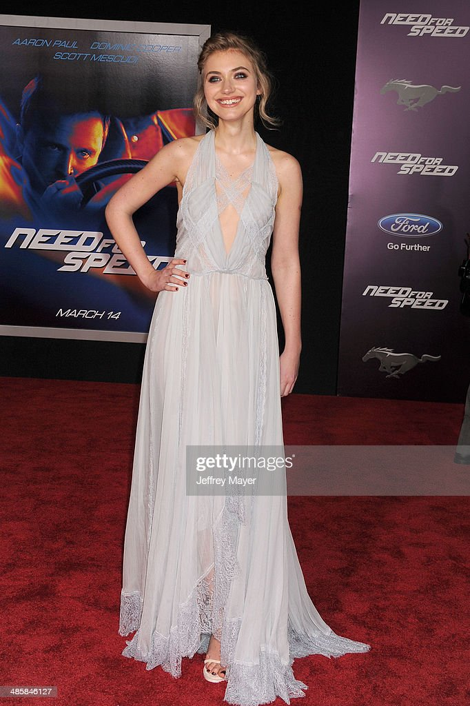 Actress Imogen Poots arrives at the Los Angeles premiere of 'Need For Speed' at TCL Chinese Theatre on March 6 2014 in Hollywood California