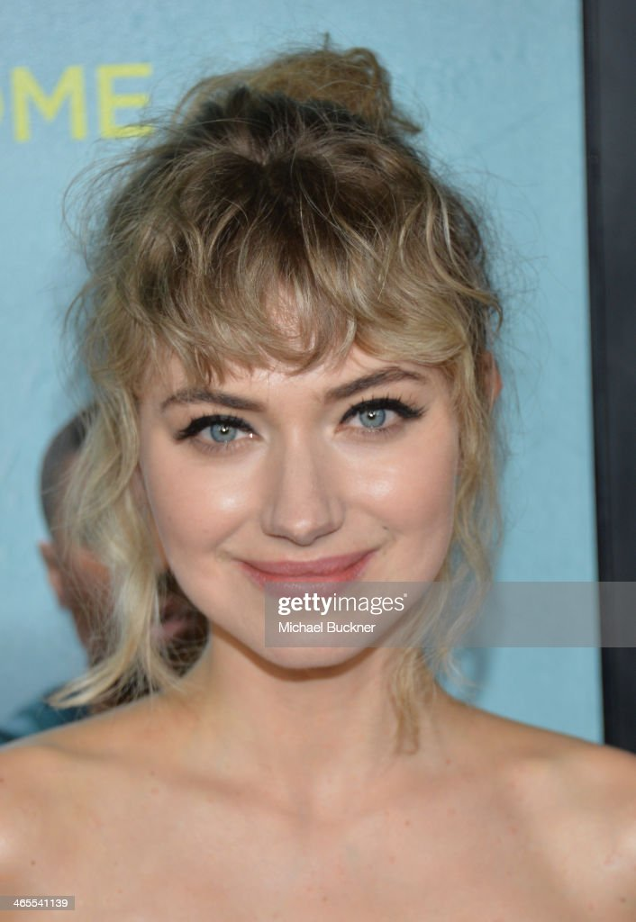 Actress Imogen Poots arrives at the premiere of Focus Features' 'That Awkward Moment' at Regal Cinemas L.A. Live on January 27, 2014 in Los Angeles, California.