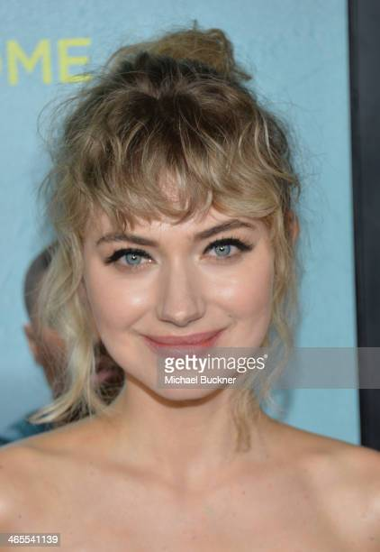 Actress Imogen Poots arrives at the premiere of Focus Features' 'That Awkward Moment' at Regal Cinemas LA Live on January 27 2014 in Los Angeles...