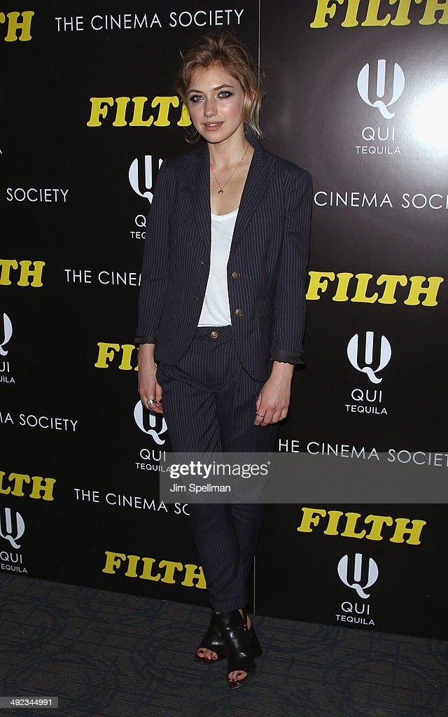 Actress Imogen Poots attends Magnolia Pictures with The Cinema Society screening of 'Filth'at Landmark's Sunshine Cinema on May 19 2014 in New York...