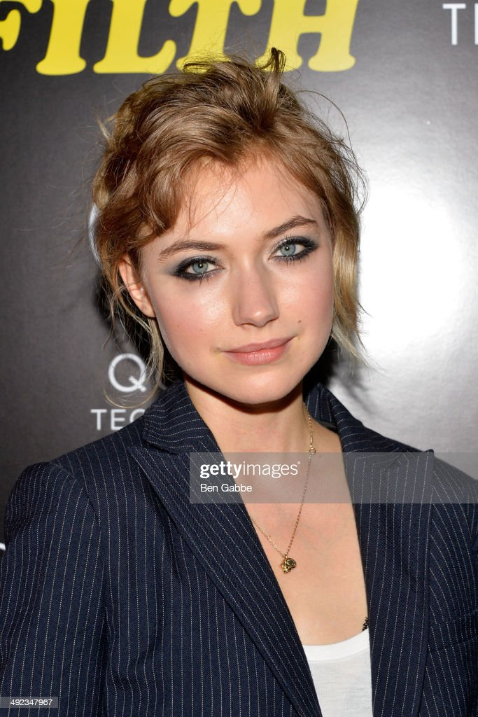 Actress Imogen Poots attends 'The Filfth' screening hosted by Magnolia Pictures and The Cinema Society at Landmark Sunshine Cinema on May 19 2014 in...